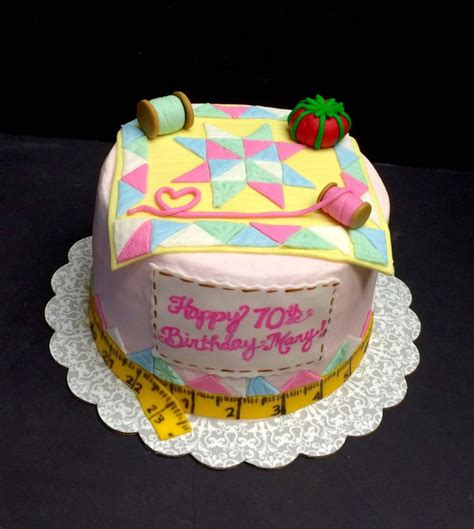 quilt themed birthday cakes quilting themed cake cakecentral com