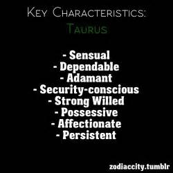 key characteristics taurus taurus the bull pinterest