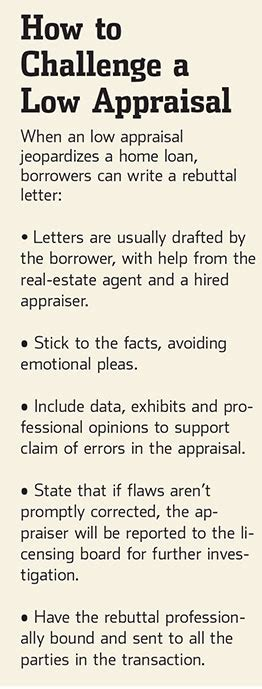 Low Appraisal Letter a second chance for rejected borrowers the rebuttal