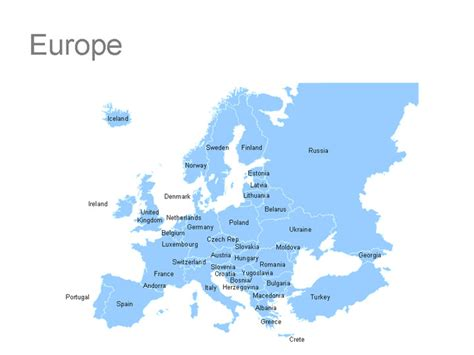 Free Search Europe Free Powerpoint Map Of Europe Image Search Results