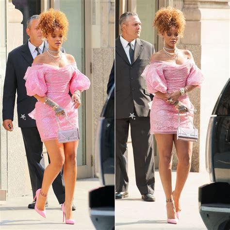 In Rihannas Closet Christian Louboutin by Rihanna Wearing Vivienne West Label Fall 2015 Pink