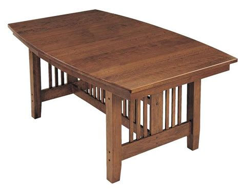 amish lincoln mission dining room table keystone collection
