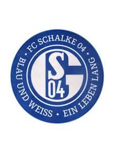 teppich logo teppich schalke 04 logo lizenzprodukt blau weiss 100cm schalke