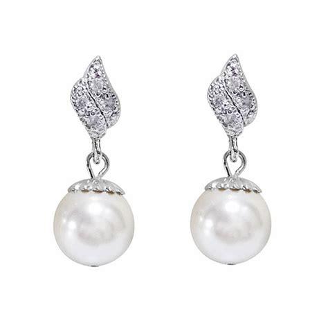 Cubic Drop Earring cubic zirconia pearl drop earrings by katherine swaine