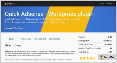 adsense wordpress plugin 7 adsense wordpress plugins 2018 free and paid formget