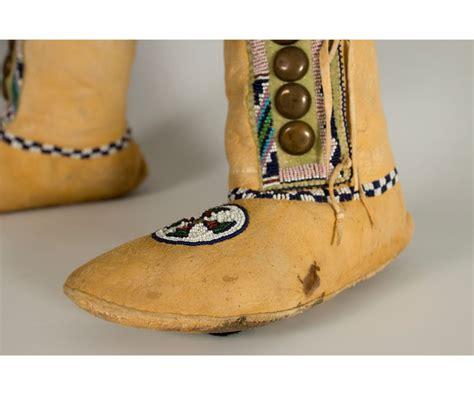 beaded moccasin tops kiowa beaded high top moccasins