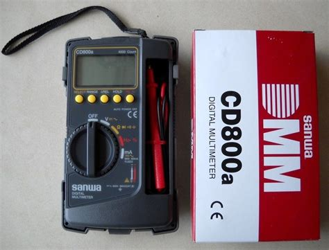 Digital Multimeter Sanwa Cd771 sanwa digital multimeter cd800a dmm 4000 volt counter