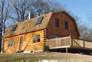 gambrel log home kits amp plans roof barn homes woodworking projects