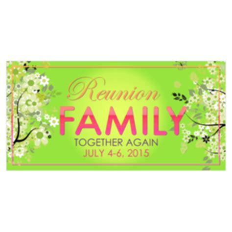 reunion banners design templates family reunion banners printastic