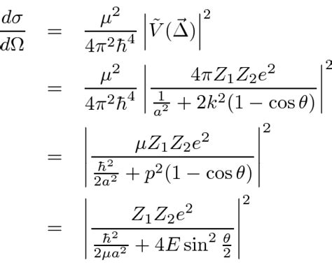 Scattering Cross Section Calculation by Scattering From A Screened Coulomb Potential