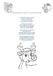 printable lyrics to rudolph the red nosed reindeer rudolph the red nosed reindeer song lyrics and colouring