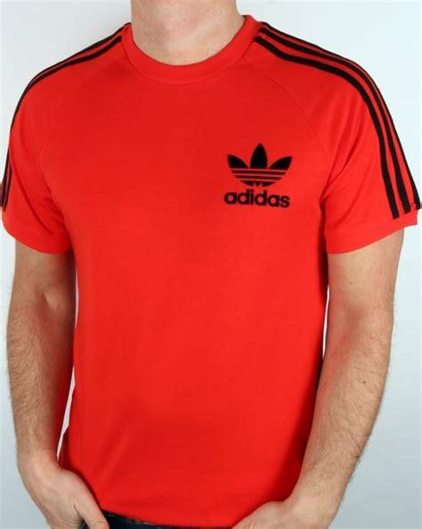 Kaos Adidastshirtt Shirt Adidas adidas originals t shirt orange 3 stripe s retro