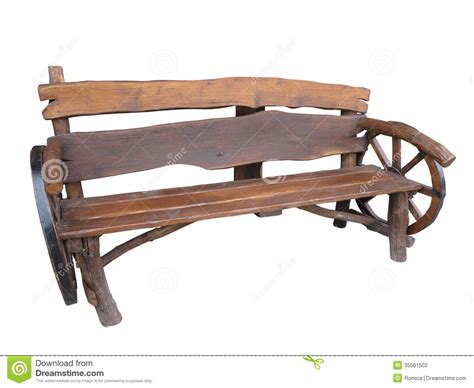 Handmade Wooden Garden Benches - wooden handmade garden bench with cart wheel decoration