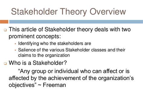 Shareholder Vs Stakeholder Essay by Csr Presentation By 3 Stakeholder Theory