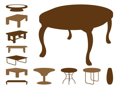 Vector Table by Table Silhouettes Vector Graphics Freevector