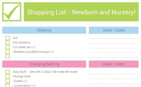 list of items to buy for a new house new baby nursery checklist newborn essentials bub hub