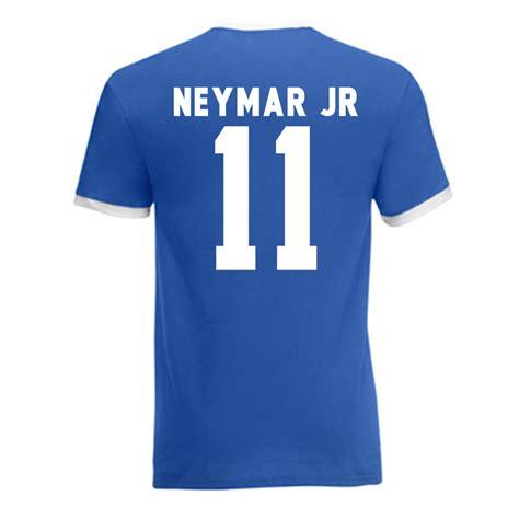 Kaos Gildan Neymar Nike neymar brazil ringer blue ringbluewhite uksoccershop