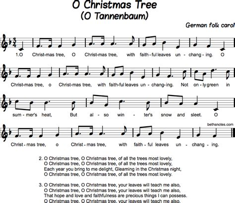 o christmas tree variation pdf sheet music o tree beth s notes