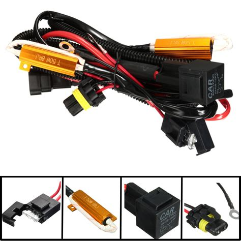 hid load resistor install 40a relay wiring harness 50w load resistor h1 h7 h11 9005 9006 h3 hid headlight alex nld