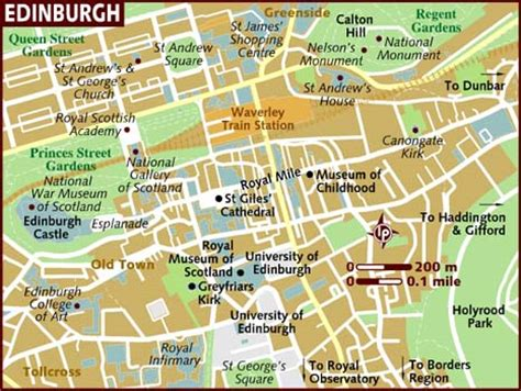 map of edinburgh scotland map of edinburgh