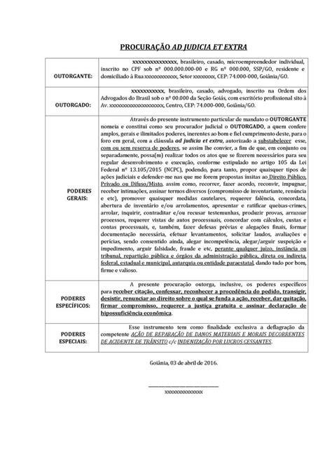 Modelo de Procuração pelo NCPC | Modelos e peças JusBrasil