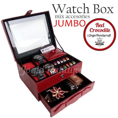 Set Tas Handy Ribbon 3in1 kotak jam tangan sport mix tempat perhiasan luxury