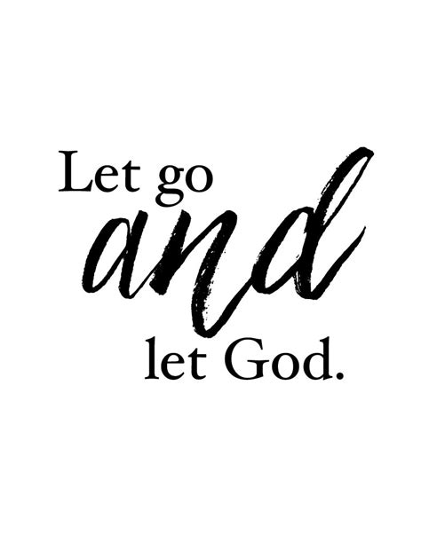 let go and let god tattoo pray wait trust christian print vintage home