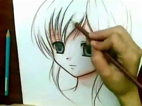 imagenes lindas hechas a lapiz dibujando anime con lapices de colores youtube
