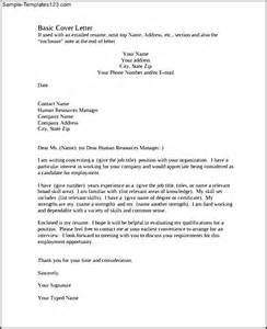 basic cover letter example pdf template free download
