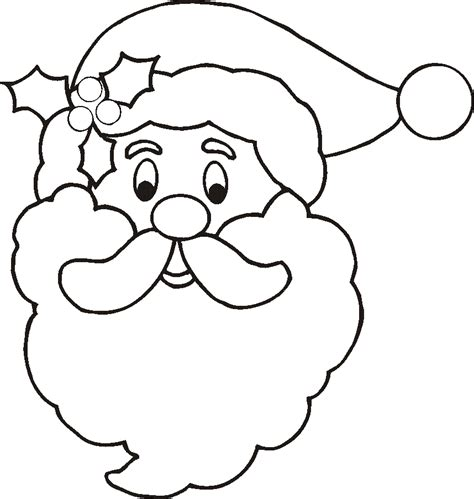 Santa Claus Face Coloring Pages Santa Clause Coloring Page