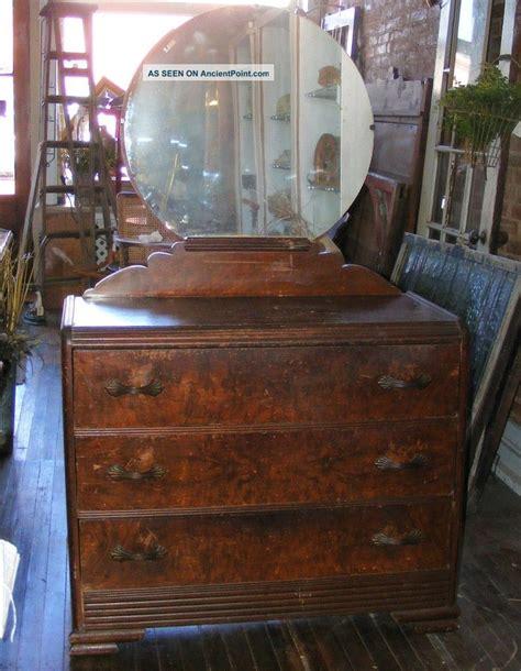 antique vanity dresser round mirror american vanity dresser art deco waterfall bedroom