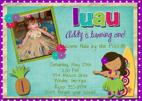 free printable birthday invitations luau hawaiian birthday invitations template resume builder
