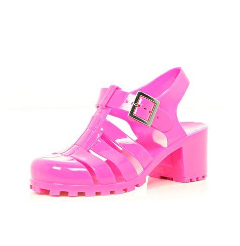 Heel Shoes Jelly pink jelly heel sandals sandals footwear