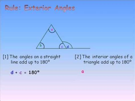 How To Work Out The Interior Angle g7 exterior angles triangle finding the unknown angle