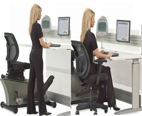 Desk Fitness by Elliptical Machine Office Desk