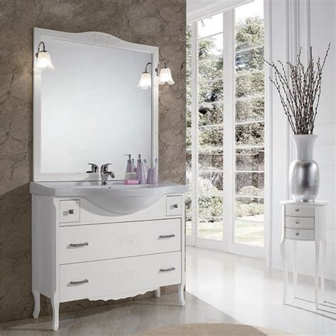 mobile bagno classico mobile bagno classico beatrice bianco 105cm