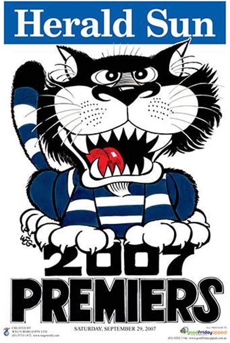 video featured videos herald sun weg premiership poster geelong 2007 herald sun shop