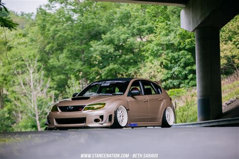 slammed subaru hatchback slammed sti hatchback pictures to pin on pinsdaddy