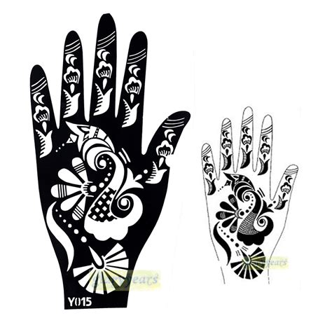 indian henna tattoo stencils aliexpress buy 1pc large india henna