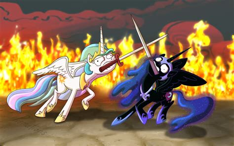 cool my ponies sword fighting can t look cool by piemationsart on