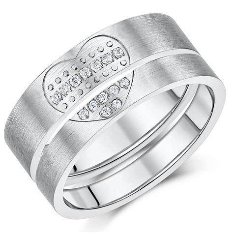 titanium lover s pair couples anniversary promise