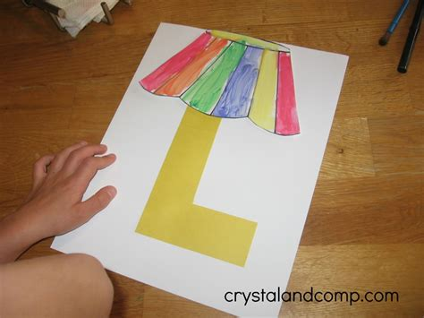 Craft Paper L Shades - alphabet activities for preschoolers l is for l