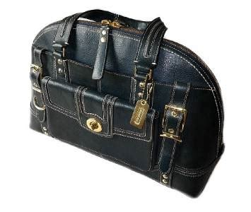 Coach Miranda Alligator Satchel by Coach Hton Miranda Blue Leather Lg Tote Bag Purse