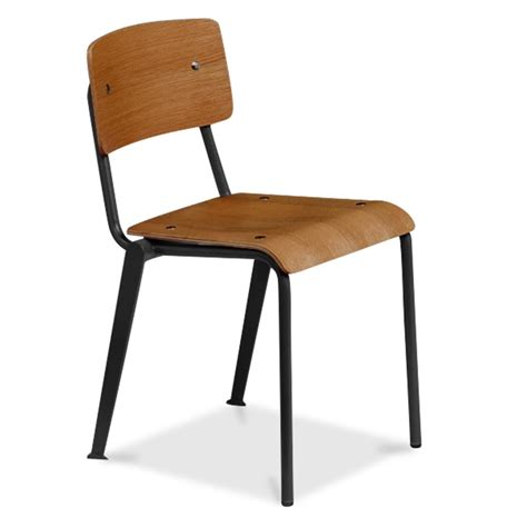 school armchair cult living french school chair in black with wood option