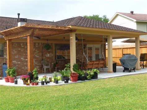 pergola covered patio pergola design ideas pergola patio cover wooden varnished