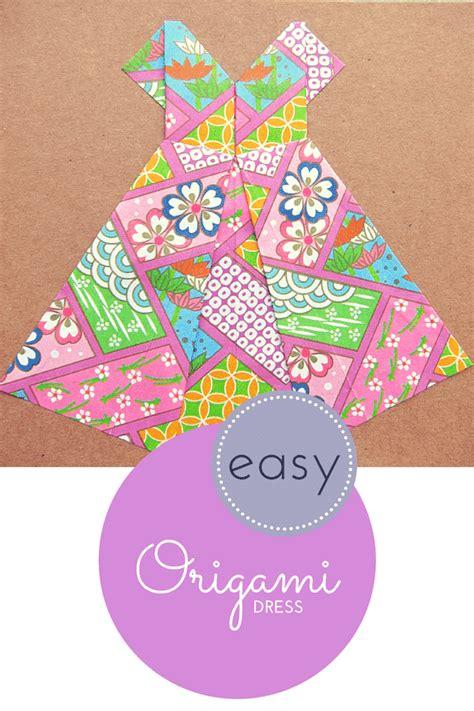 Easy Origami Dress - how to make an easy origami dress