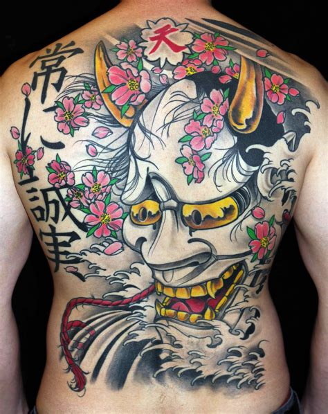 tattooed asian mask tattoos