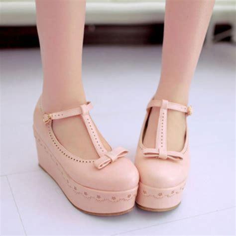 shoes kawaii pastel pink platform shoes shoes