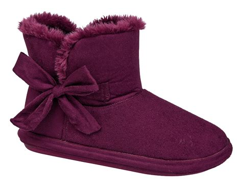 slipper booties womens womens soft winter booties fur lined slippers boots