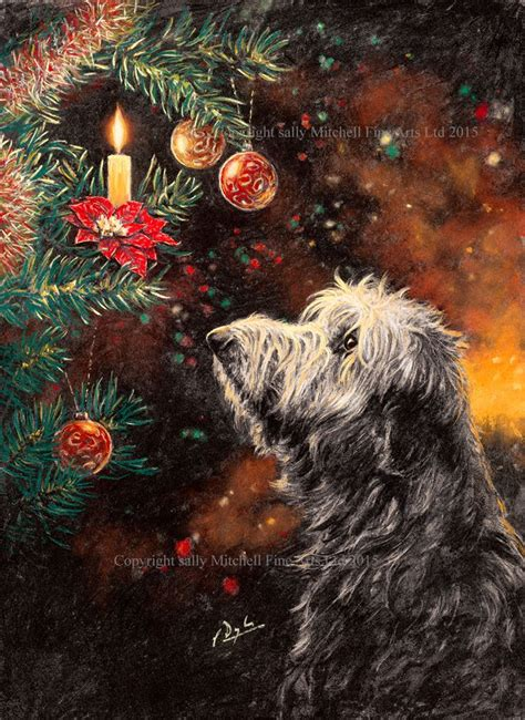 christmas wishes deerhound christmas cards  paul doyle